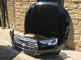 Genuine Audi A4 B9 8W0 Front Bumper & Bonnet & Xenon Headlight 2016-2017-2018-