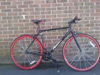 Falcon Forward Fixie Single Speed 28 Inch Road Hybrid Bike As New - RRP £299
