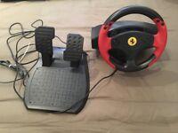 Never Used Ferrari Thrustmaster Steering-wheel for PC
