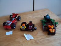 Lego Genuine Car Sets with dragback and release