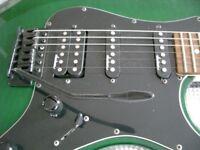 Jackson PS-1 performer electric guitar - Japan - '96 - Flame top bottle green