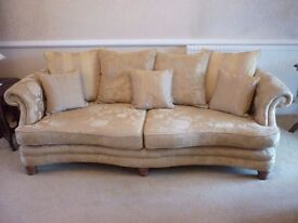 4 seater vintage look sofa and 3 seater