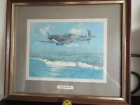 Framed picture of a Spitfire