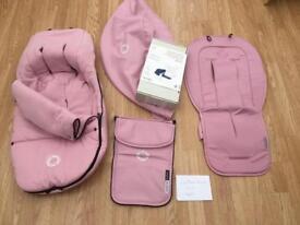 Bugaboo Pink accessories Footmuff, liner Buffalo fabric set