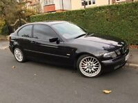 BMW 325I SPORT COMPACT 2002 AUTOMATIC FULL RED LEATHER ONLY 84,000 MILES FSH