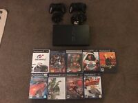 Playstation 2 (PS2) + 9 Games + 2 Controllers (Used)