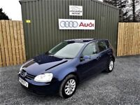 2008 VOLKSWAGEN GOLF MATCH 1.9 TDI 105, NAVY BLUE, LOW MILEAGE, FULL HISTORY, NEW TIMING BELT