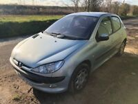 Peugeot 206 1.6 16v SE 5dr (a/c, climate control) £1,485 p/x welcome FREE WARRANTY, NEW MOT