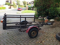 TRAILER 325cm x 155cm Framework.Very strong Angle Iron & Built on Mini Chassis. Will carry Mtrbike.