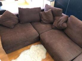 Large, Italian, 4 Piece Corner Sofa from Selfridges (all cushions included)