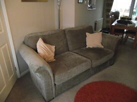 Marks and Spencer 3 piece suite with storage foot stool.