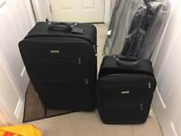 2 x Dunlop suitcases (1 x large, 1 x medium)