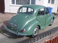 Morris Minor 1000 Saloon 4 Door.Almond Green. 1962. M.O.T June 2017.