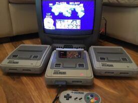 Super Nintendo Entertainment System Console, SNES Console, Super Nintendo Console