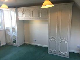 Wardrobe / Closet wall unit with light