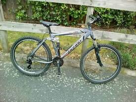 Shogun xc200 full suspension mountain bike, new parts fitted, good working order