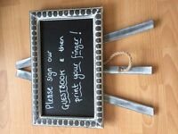 Small stand up blackboard great for wedding decoration or the home