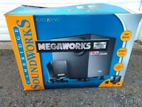 Creative Cambridge Sound Works PC MP3 CD 2.1 Sound system box and in very good condition