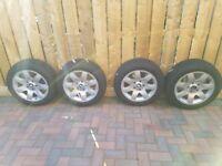 16inch alloys and firestone winterhawk tyres x4 7jx16h2 bmw