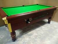 7x4 Slate Bed Ex Pub Pool Table. New Recover. Free Accessories and Local Delivery