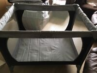 Travel cot. Hardly used. Free local delivery