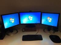 3 x computer monitors