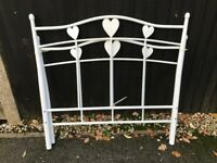 Young Girls Metal Heart Bed Frame