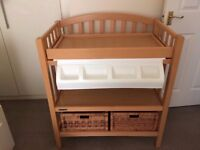 Mamas and Papas Gina Changing Table/Unit with hidden baby bath + baskets/removeable tray