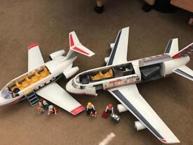Two playmobil aeroplanes