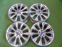 "FORD KUGA, MONDEO, GALAXY, FOCUS, TRANSIT CONNECT C-MAX S-MAX 19"" ALLOY WHEELS CHROME"