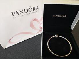 Pandora Bracelet w/ Box & Bag NEW (Size Small)