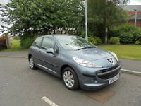 peugeot 207 1.4 3dr VERY LOW MILEAGE ONLY 18762 MILES
