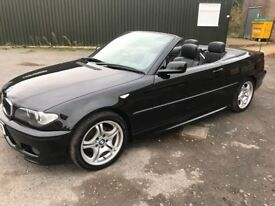BMW E46 318ci Msport 2006 convertible black FSH, 74k, HPI clear, heated leather, cruise control+
