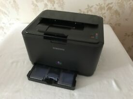 For Parts or Repair: Samsung CLP-310 Laser Printer, with multiple, almost-new toner cartridges