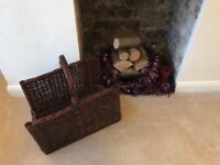 LOG WICKER BASKET