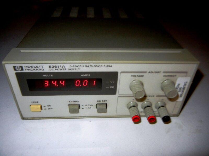 HP / AGILENT E3611A DC POWER SUPPLY 20 V, 1.5A  or  35V, 0.85A .