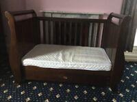 5 piece Boori Country Collection nursery furniture set. English oak