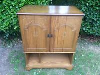 Charming 1950s Solid Oak Cabinet