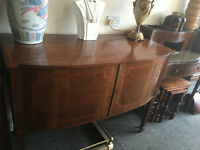 Stunning Whytock & Reid Antique Mahogany Inlaid Bow Front Sideboard