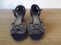 Girls Next Black Sandals Size 13