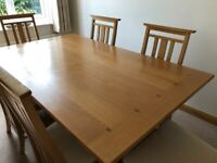 Ducal 'Bows' Light Oak Dining Room Table and Chairs