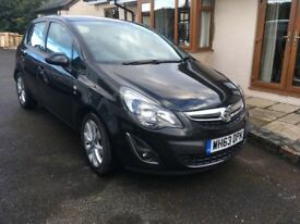 Black Vauxhall Corsa Excite. 1 Owner, Full Main Dealer Service Record. Excellent condition.