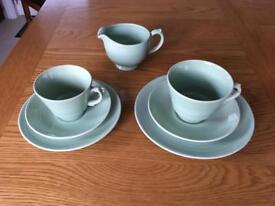Beryl Wood's Ware tea set in green