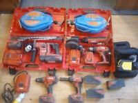 Hilti tools parcel with stanley laser level and 2 winches