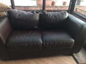 Leather sofas 2 and 3 seater