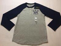 BRAND NEW Ralph Lauren 2016 Kids Boys Age 8-9 USA 1967 Polo Long Sleeve Tshirt Top 15.00 100sales