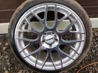 "18"" caliber 5x112 Audi a4 a6 Mercedes Skoda golf mk5-6 -7 alloys tyres"