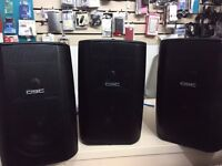 3x QSC AD-S52 wall speakers for sale for only £300 - ideal for shops or businesses