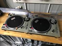Technics SL 1200 MK2 Turntables Pair + Cartridges