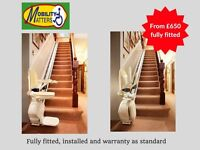 From £650, Top Quality Stairlifts Acorn/Brooks/Stannah, new or reconditioned, finance available